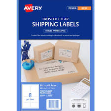avery sheet labels avery inkjet shipping labels clear 25 sheets 8 per page