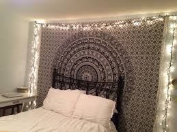 Tapestry Bedroom Bohemian Bedroom With Christmas Lights And Tapestry Pinteres