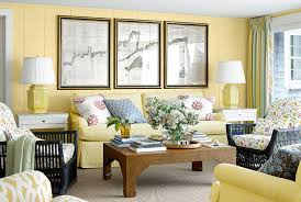 yellow living room decor theme