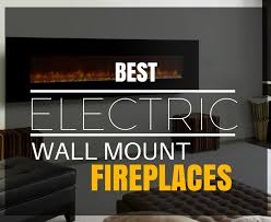 best electric wall mount fireplace