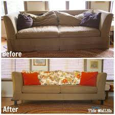 Leather Sofa Makeover Easy Diy Save For A Tired Old Sofa Sofa Makeover Diy Sofa And