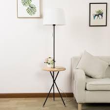 floor lighting 1. Jessica 60.24\u2033 Wood Tripod End Table Floor Lamp Lighting 1