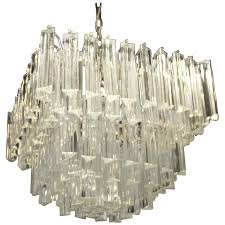 vintage five tier murano chandelier by camer glass italian italy brass