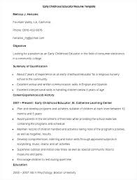 English Resume Template Adorable Early Childhood Educator Resume Templates Interpersonal Skills