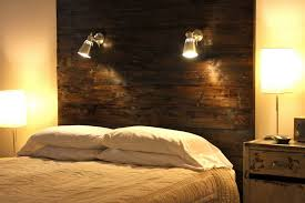 image of rustic wall mount headboard