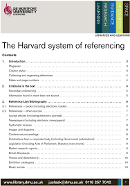 The Harvard System Of Referencing Pdf