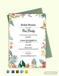 tea party invitations free template free bridal shower tea party invitation template word