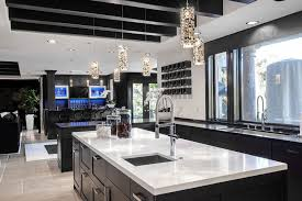 bright your kitchen with sparkling white quartz countertop14 sparkling