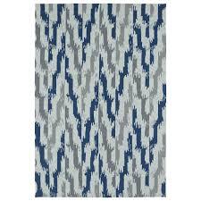 kaleen rugs seaside blue ikat indoor outdoor rug 10 0 x 14 0 10 0 x 14 0 beige size 10 x 14