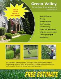 Sample Flyers For Landscaping Business 15 Lawn Care Flyers Free Examples Advertising Ideas Hloom