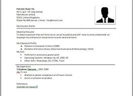 Simple Resume Format Best Example Of Simple Resume Format Gameisus