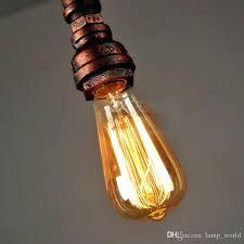 whole new vintage water pipe pendant lights industrial bulb lamps loft retro edison