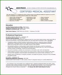 Medical Assistant Resume Examples No Experience 55 Ideas