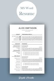 One Page Resume Templates Modern Resume Design Template Modern Resume Template Word Free
