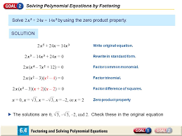 7 solving polynomial equations by factoring