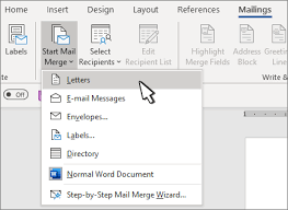 Word Mail Merge Use Mail Merge To Personalize Letters Office Support