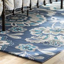 unique blue outdoor rug
