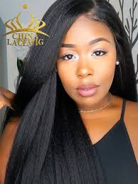 chinalacewig straight lace front wigs african american human hair cf037