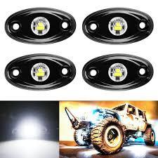 Wheel Light Kit 4pcs Led Rock Light Kit Off Road Atv Suv Offroad Truck Boat