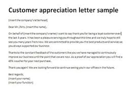 Customer Appreciation Letter Sample Thank You Client Letter