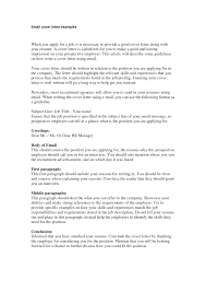 Cover Letter Email Example 16 Nardellidesign Com