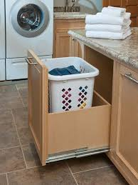 Roll out drawers example for Dog food storage in mudroom cabinets