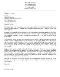 student cover letter sample sample cover letter for student
