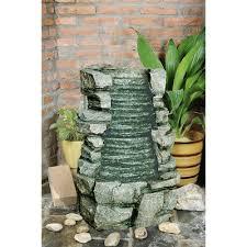 resin rock waterfall fountain