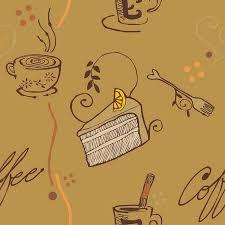 cake pattern wallpaper. Simple Pattern Brown Tone Coffee And Cake Pattern Wallpaper Stock Vector  27509069 Throughout Cake Pattern Wallpaper