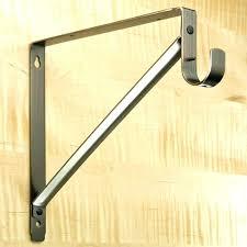 closet rod bracket shelf brackets cabinet rack ideas bakers decorating furniture decorative metal