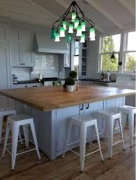 Kitchen with wooden island table Kitchen island Pinterest