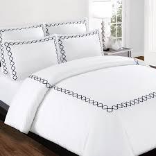 echelon home hotel collection quatrefoil embroidery cotton sateen 3 piece duvet cover set free today com 11626743