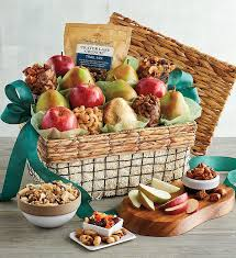 deluxe orchard gift basket fruit