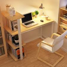 home office desk corner. modern wood home office desk corner computer pc table workstation with bookshelf