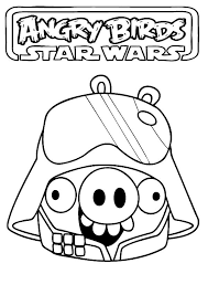 Small Picture Angry Birds Star Wars Pig Darth Vader Coloring Pages Batch Coloring