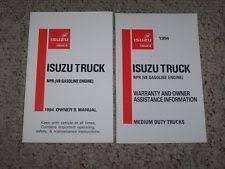 isuzu npr manual 1994 isuzu npr owner operator user guide manual 5 7l v8 gas gasoline engine