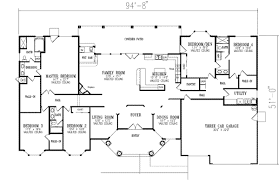 ... Clever Design Ideas House Plans With Bathrooms In All Bedrooms 13 Five  Bedroom Floor On Modern ...