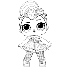 Leuk Voor Kids Kleurplaat Evelyn Lol Dolls Coloring Pages