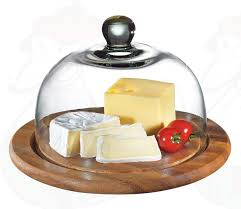 cheesefondue co uk cheese dome acacia wood with glass cover Ø 25 cm