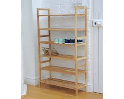 Traditional Interior Design with Homemade Wooden Tall Shoe Rack, Finished  Maple Wood Construction, Finished