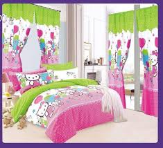 amber 5 in 1set bedsheet with curtain queen size