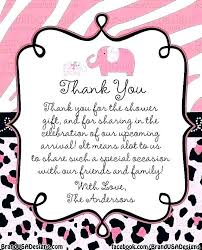thank you notes for baby shower wording note host coworkers
