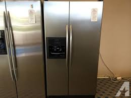 kitchenaid stainless black side by side refrigerator