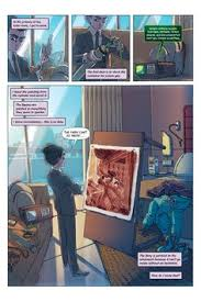 page of interior artwork from the fourth artemis fowl graphic novel artemis fowl the