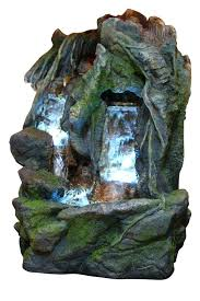 lighted water fountain indoor water fountain with led lights lighted waterfall tabletop fountain with stone wall
