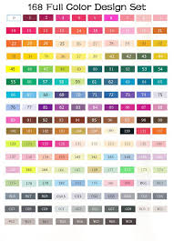 Touch Five Markers Color Chart In 2019 Marker Art Sketch
