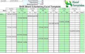 Monthly Employee Schedule Template Work Excel Spreadsheet