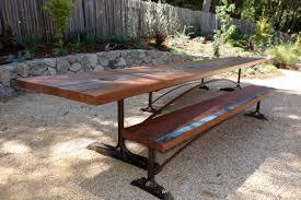 Redwood Slab Dining Table Custom Tables Heritage Salvage