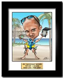 police officer gifts a custom caricature