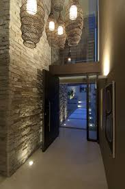 Modern Entryway stunning the natural elements the high ceiling te lights 8785 by uwakikaiketsu.us